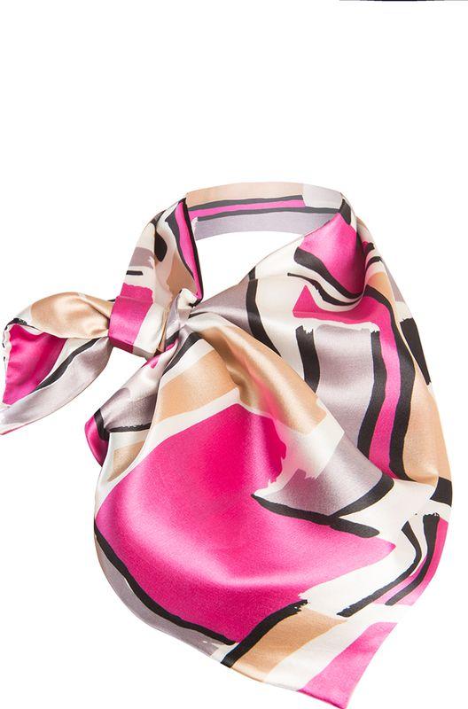 Платок женский Charmante, цвет: фиолетовый. FRPA316. Размер 65 см х 35 смFRPA316Модная косынка с художественным принтом - идеальный аксессуар. Шарфик-франтон имеет специальный крой и небольшую петельку. Продевая один или несколько краев аксессуара, вы каждый раз будете получать новый вид.