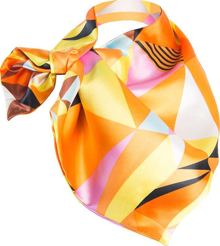 Платок женский Charmante, цвет: оранжевый. FRPA317. Размер 65 см х 35 смFRPA317Модная косынка – идеальный аксессуар для весны и офисного дресс-кода. Шарфик-франтон имеет специальный крой и небольшую петельку. Продевая один или несколько краев аксессуара, вы каждый раз будете получать новый вид.