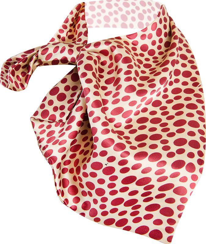 Платок женский Charmante, цвет: бежевый, бордовый. FRPA323. Размер 65 см х 35 смFRPA323Элегантный платок имеет специальный крой и небольшую петельку. Продевая один или несколько краев аксессуара, вы каждый раз будете получать новый вид.