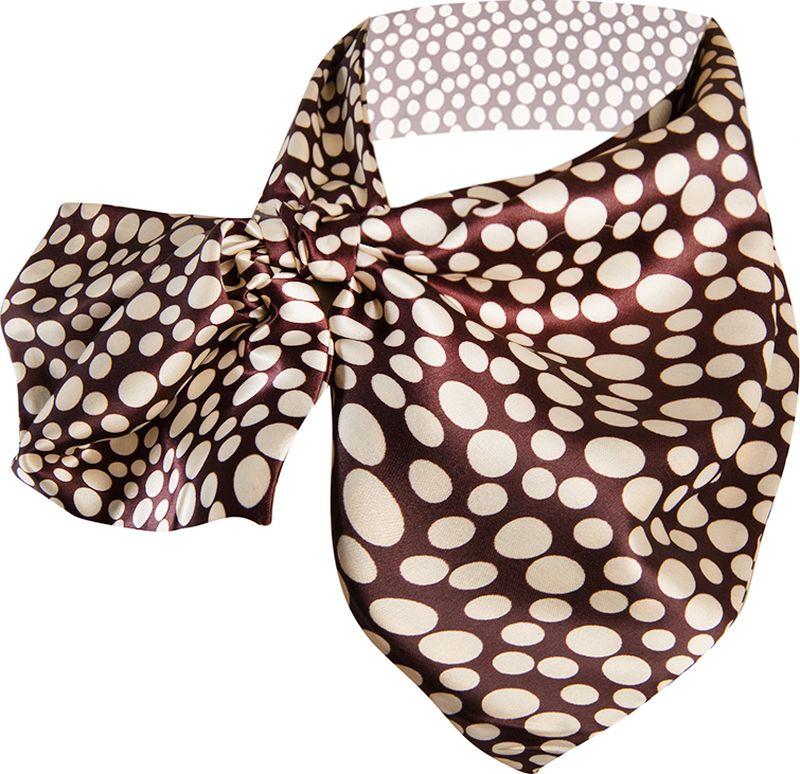 Платок женский Charmante, цвет: коричневый, бежевый. FRPA323. Размер 65 см х 35 смFRPA323Элегантный платок имеет специальный крой и небольшую петельку. Продевая один или несколько краев аксессуара, вы каждый раз будете получать новый вид.