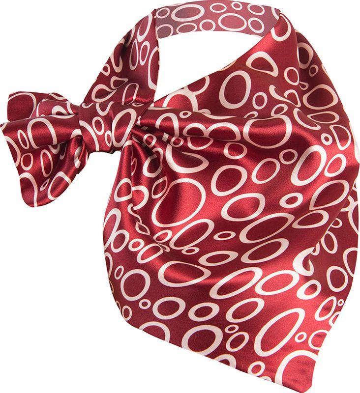 Платок женский Charmante, цвет: красный. FRPA327. Размер 65 см х 35 смFRPA327Элегантный платок имеет специальный крой и небольшую петельку. Продевая один или несколько краев аксессуара, вы каждый раз будете получать новый вид.
