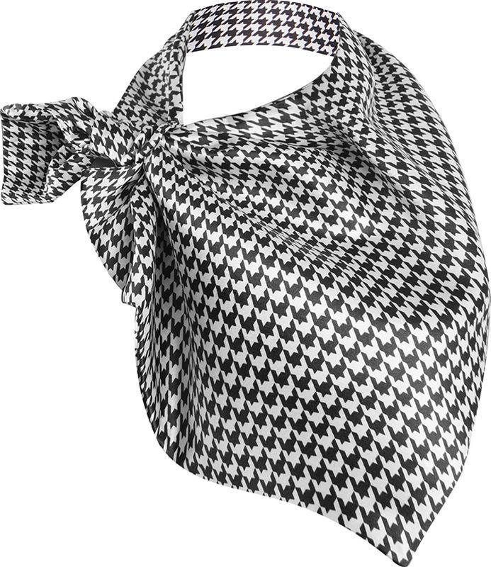 Платок женский Charmante, цвет: черный. FRPA329. Размер 65 см х 35 смFRPA329Элегантный платок имеет специальный крой и небольшую петельку. Продевая один или несколько краев аксессуара, вы каждый раз будете получать новый вид.