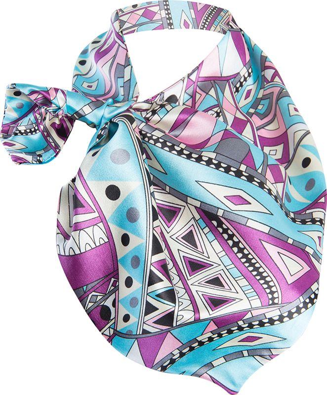 Платок женский Charmante, цвет: сиреневый. FRPA331. Размер 65 см х 35 смFRPA331Элегантный платок имеет специальный крой и небольшую петельку. Продевая один или несколько краев аксессуара, вы каждый раз будете получать новый вид.
