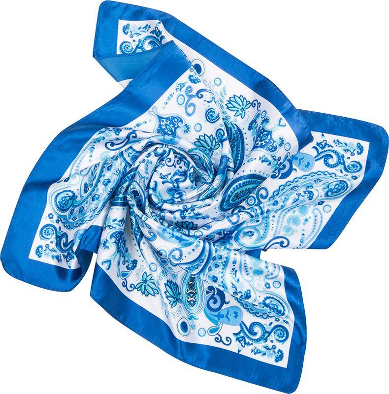 Платок женский Charmante, цвет: голубой. NEPA234. Размер 60 см х 60 смNEPA234Изящный шейный платок с восточным узором пейсли в красивом сочетании цветов. Замечательно украсит любой гардероб в качестве шарфика или косынки. Идеальный вариант для делового образа.
