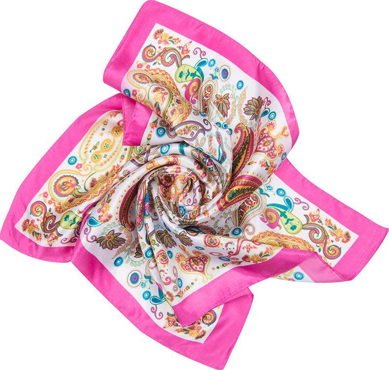 Платок женский Charmante, цвет: ярко-розовый. NEPA234. Размер 60 см х 60 смNEPA234Изящный шейный платок с восточным узором пейсли в красивом сочетании цветов. Замечательно украсит любой гардероб в качестве шарфика или косынки. Идеальный вариант для делового образа.
