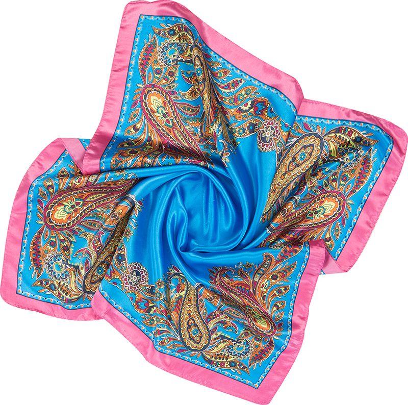 Платок женский Charmante, цвет: голубой. NEPA238. Размер 60 см х 60 смNEPA238Классическая и незаменимая деталь гардероба любой женщины - элегантный и изящный платок, который можно использовать в качестве шарфика или косынки. Модель с принтом пейсли - верный аксессуар для завершения эффектного образа на каждый день.