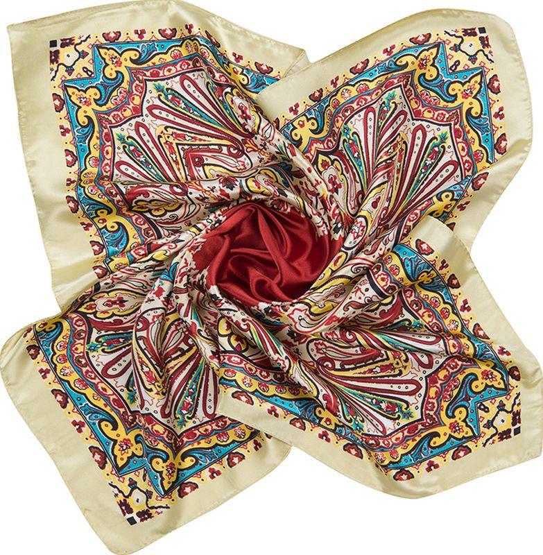 Платок женский Charmante, цвет: фисташковый. NEPA244. Размер 60 см х 60 смNEPA244Нежный шейный платок с деликатным восточным орнаментом. Дополнит и украсит любой гардероб в качестве шарфика или косынки. Подчеркивает цвет глаз, освежает лицо и придает ему легкий румянец.