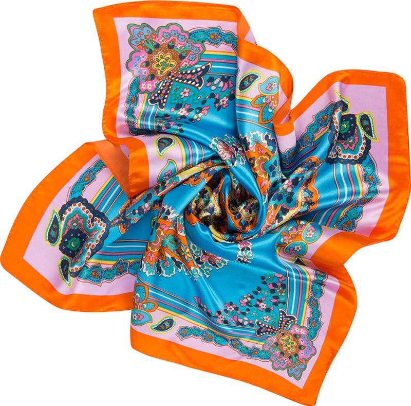 Платок женский Charmante, цвет: бирюзовый. NEPA253. Размер 60 см х 60 смNEPA253Эффектный шейный платок с восточными мотивами. Замечательно украсит любой гардероб в качестве шарфика или косынки.