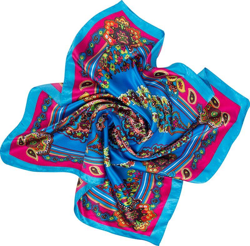 Платок женский Charmante, цвет: голубой. NEPA253. Размер 60 см х 60 смNEPA253Эффектный шейный платок с восточными мотивами. Замечательно украсит любой гардероб в качестве шарфика или косынки.