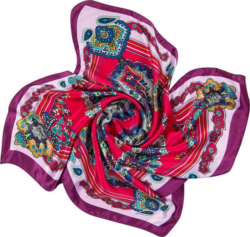 Платок женский Charmante, цвет: красный. NEPA253. Размер 60 см х 60 смNEPA253Эффектный шейный платок с восточными мотивами. Замечательно украсит любой гардероб в качестве шарфика или косынки.