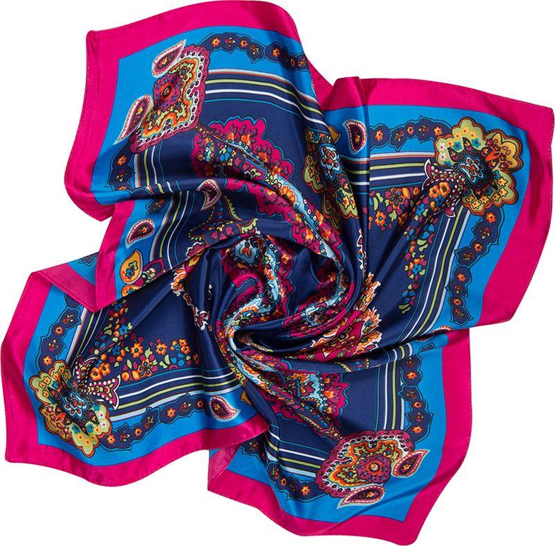 Платок женский Charmante, цвет: темно-синий. NEPA253. Размер 60 см х 60 смNEPA253Эффектный шейный платок с восточными мотивами. Замечательно украсит любой гардероб в качестве шарфика или косынки.