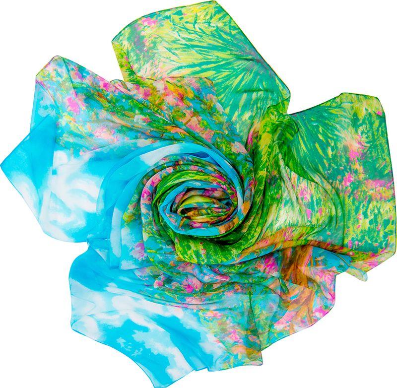Платок женский Charmante, цвет: голубой, зеленый. SCSF397. Размер 190 см х 130 смSCSF397Легкий прозрачный платок прямоугольной формы с абстрактным рисунком. Платок из натурального шелка по краям обработан швами. Благодаря размеру платок отлично драпируется, привнося модное настроение в любой образ!