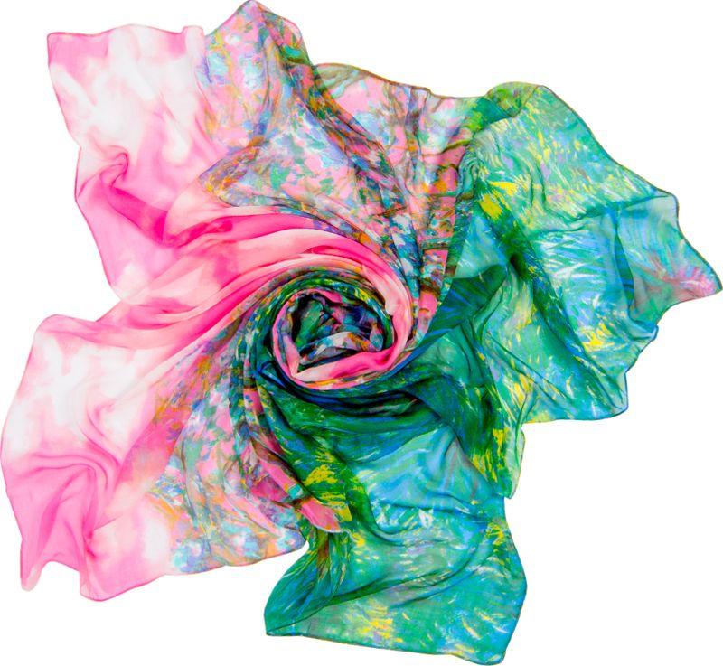 Платок женский Charmante, цвет: зеленый, розовый. SCSF397. Размер 190 см х 130 смSCSF397Легкий прозрачный платок прямоугольной формы с абстрактным рисунком. Платок из натурального шелка по краям обработан швами. Благодаря размеру платок отлично драпируется, привнося модное настроение в любой образ!