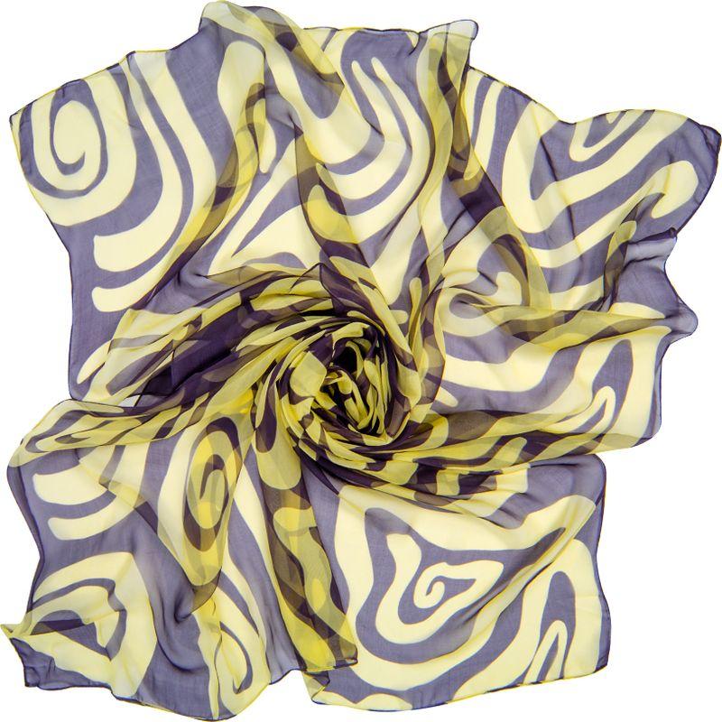 Платок женский Charmante, цвет: темно-синий, бежевый. SCSF398. Размер 180 см х 110 смSCSF398Легкий прозрачный платок прямоугольной формы с абстрактным рисунком. Платок из натурального шелка по краям обработан швами. Благодаря размеру платок отлично драпируется, привнося модное настроение в любой образ!