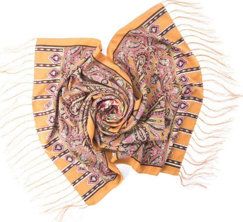 Шарф женский Charmante, цвет: бежевый. SCVIST351. Размер 160 см х 65 смSCVIST351Необычайно мягкий и приятный на ощупь шарф из высококачественного материала, украшенный цветочным принтом, восточным узором пейсли и орнаментом. Края подшиты и по ширине декорированы шелковыми кисточками.