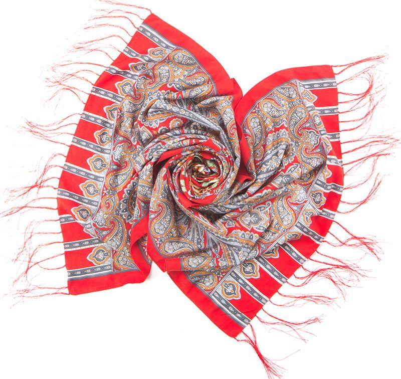 Шарф женский Charmante, цвет: красный. SCVIST351. Размер 160 см х 65 смSCVIST351Необычайно мягкий и приятный на ощупь шарф из высококачественного материала, украшенный цветочным принтом, восточным узором пейсли и орнаментом. Края подшиты и по ширине декорированы шелковыми кисточками.