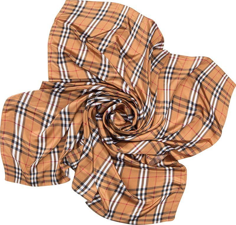 Платок женский Charmante, цвет: коричневый. SHPA263. Размер 110 см х 110 смSHPA263Классический платок с принтом шотландская клетка - незаменимая вещь в гардеробе каждой модницы. Рисунок расположен таким образом, что прекрасно виден в различных вариациях драпировок. Добавит любому осеннему образу лондонского шика.