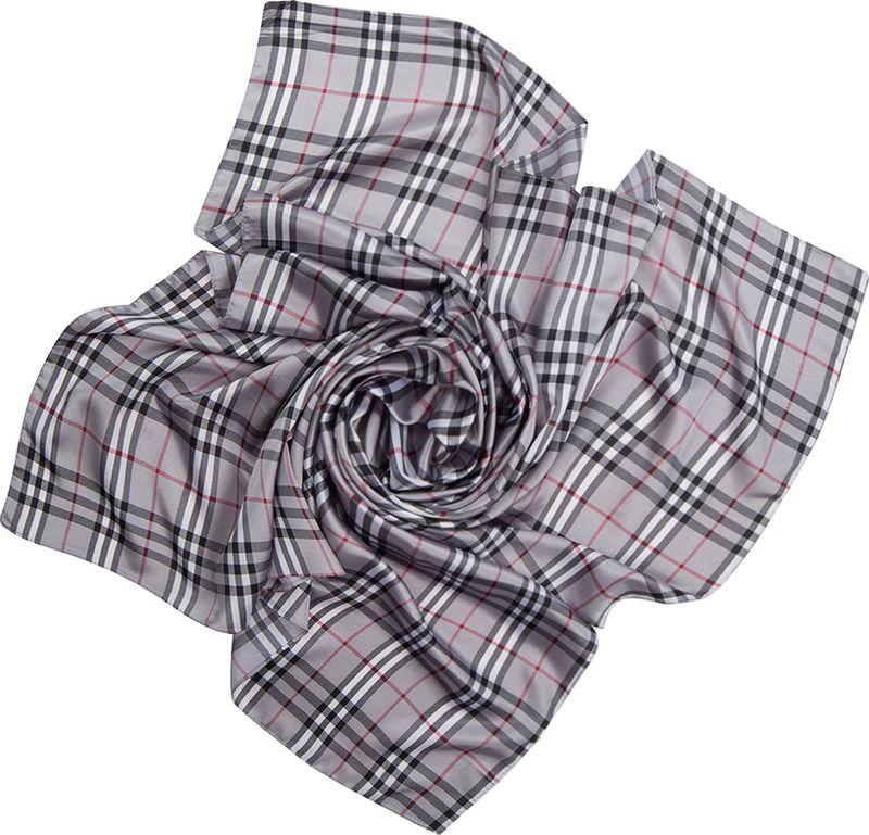 Платок женский Charmante, цвет: серый. SHPA263. Размер 110 см х 110 смSHPA263Классический платок с принтом шотландская клетка - незаменимая вещь в гардеробе каждой модницы. Рисунок расположен таким образом, что прекрасно виден в различных вариациях драпировок. Добавит любому осеннему образу лондонского шика.