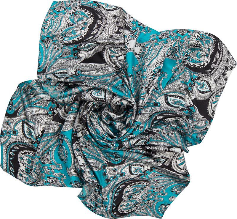 Платок женский Charmante, цвет: голубой. SHPA265. Размер 110 см х 110 смSHPA265Великолепный платок в сдержанной цветовой гамме. Элегантный орнамент в стиле барокко прекрасно дополнит осеннее пальто. Эта модель больше всего подойдет для классического образа, наполнив его непередаваемой изысканностью.