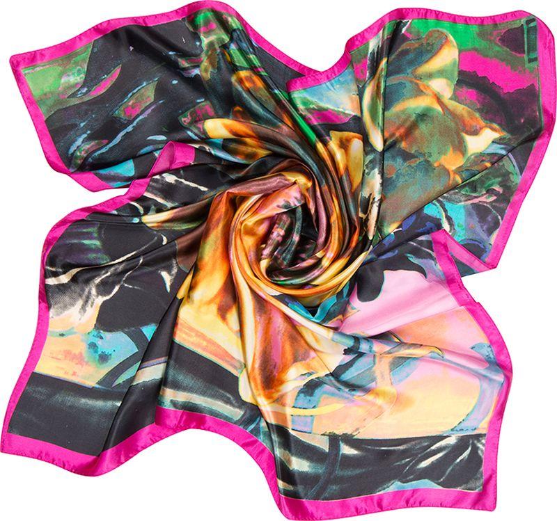 Платок женский Charmante, цвет: ярко-фиолетовый. SHPA272. Размер 90 см х 90 смSHPA272Элегантный платок с принтом в виде крупного цветка, без сомнения, украсит шею или голову своей обладательницы. Классический размер позволяет платку прекрасно драпироваться, создавая при этом красивые переливы цвета за счет атласной структуры полотна.