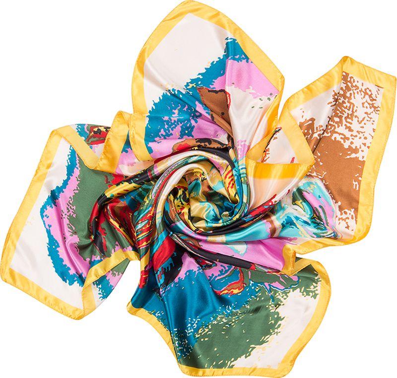 Платок женский Charmante, цвет: желтый. SHPA273. Размер 90 см х 90 смSHPA273Яркий платок классического размера с цветочным принтом. Гладкая шелковистая текстура приятна к телу, изделие отлично драпируется и сочетается с любой одеждой.