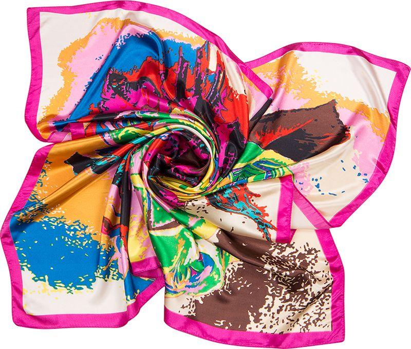Платок женский Charmante, цвет: ярко-розовый. SHPA273. Размер 90 см х 90 смSHPA273Яркий платок классического размера с цветочным принтом. Гладкая шелковистая текстура приятна к телу, изделие отлично драпируется и сочетается с любой одеждой.