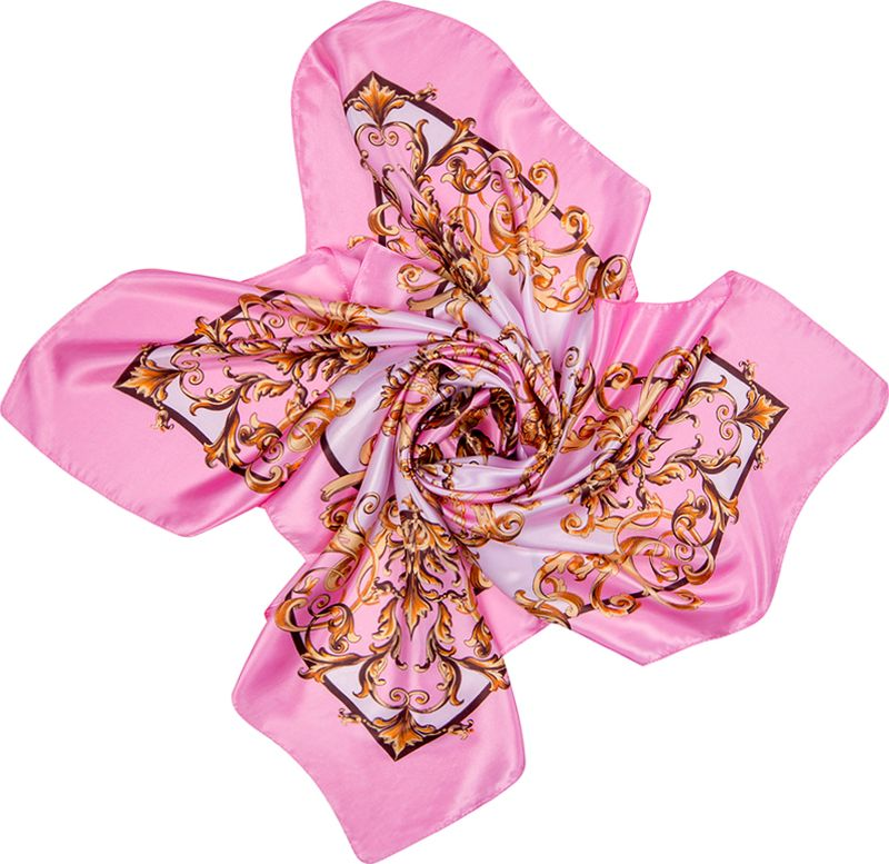 Платок женский Charmante, цвет: розовый. SHPA274. Размер 90 см х 90 смSHPA274Стильный платок с узором. Классический размер позволяет платку прекрасно драпироваться, создавая при этом красивые переливы цвета за счет атласной структуры полотна.