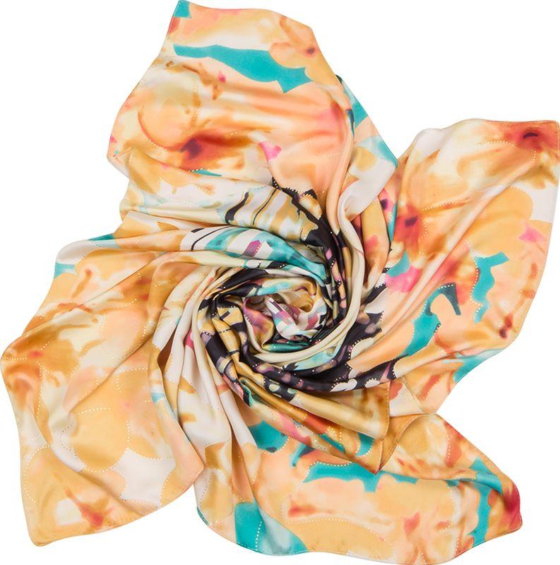 Платок женский Charmante, цвет: лиловый. SHPA278. Размер 90 см х 90 смSHPA278Нарядный платок классического размера с рисунком и фольгированием. Классический размер позволяет платку прекрасно драпироваться, создавая при этом красивые переливы цвета за счет атласной структуры полотна.