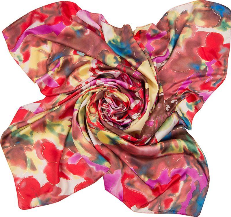 Платок женский Charmante, цвет: фиолетовый. SHPA278. Размер 90 см х 90 смSHPA278Нарядный платок классического размера с рисунком и фольгированием. Классический размер позволяет платку прекрасно драпироваться, создавая при этом красивые переливы цвета за счет атласной структуры полотна.