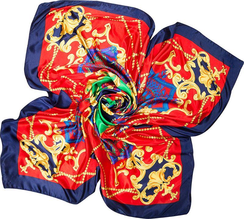 Платок женский Charmante, цвет: красный. SHPA284. Размер 90 см х 90 смSHPA284Яркий платок с шелковым отливом, узорами и полями – для любого времени года. Украсит однотонный наряд. Края платка обработаны машинным швом. Ткань не мнется, не теряет яркости и не садится после стирок.