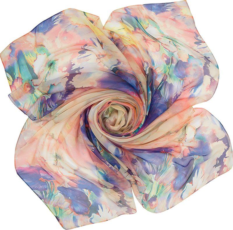 Платок женский Charmante, цвет: оранжевый. SHPF301. Размер 140 см х 140 смSHPF301Легкий воздушный платок с акварельными цветочными рисунками. Аксессуар не мнется и прекрасно драпируется, создавая красивые переливы цвета. Края обработаны машинным швом. Универсальный предмет женского гардероба.