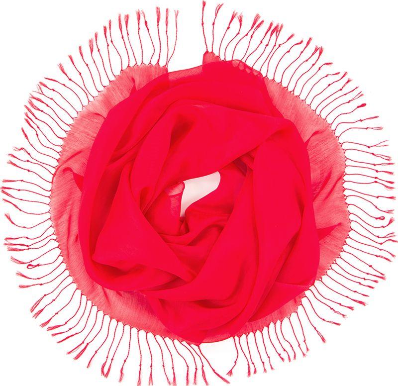 Платок женский Charmante, цвет: красный. TIVIO357. Размер 170 см х 70 смTIVIO357Однотонный палантин из вискозы с атласным блеском, оформленный по бокам кистями. Благодаря размеру палантин прекрасно драпируется и украсит любой образ.