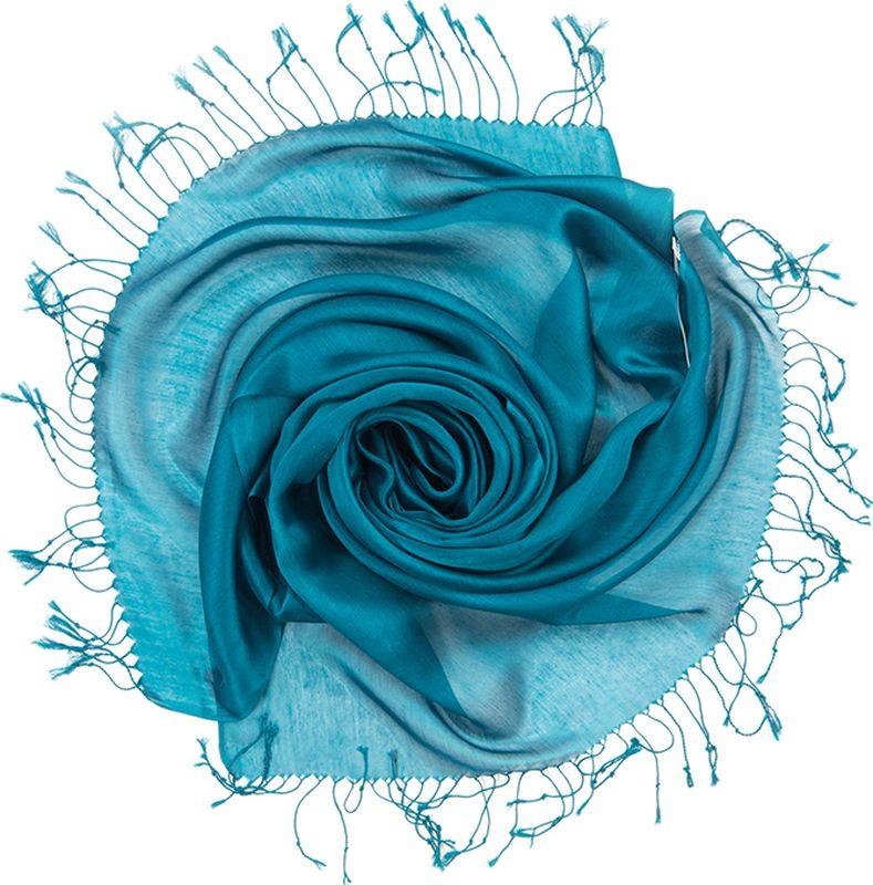Платок женский Charmante, цвет: морская волна. TIVIO357. Размер 170 см х 70 смTIVIO357Однотонный палантин из вискозы с атласным блеском, оформленный по бокам кистями. Благодаря размеру палантин прекрасно драпируется и украсит любой образ.