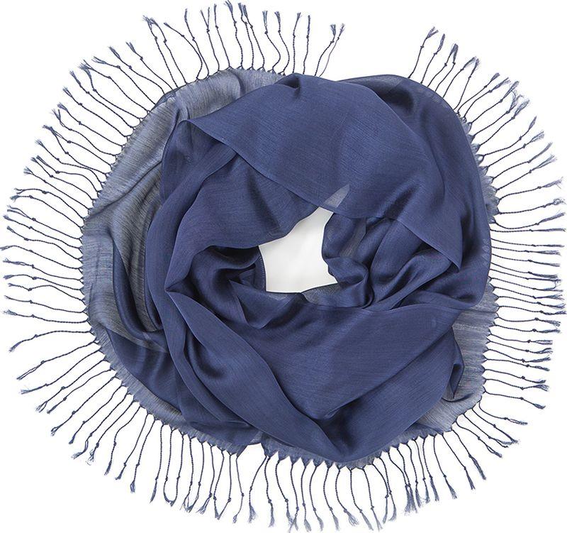 Платок женский Charmante, цвет: синий. TIVIO357. Размер 170 см х 70 смTIVIO357Однотонный палантин из вискозы с атласным блеском, оформленный по бокам кистями. Благодаря размеру палантин прекрасно драпируется и украсит любой образ.