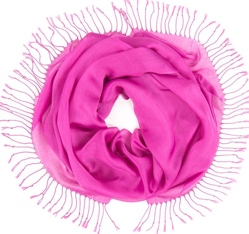 Платок женский Charmante, цвет: фиолетовый. TIVIO357. Размер 170 см х 70 смTIVIO357Однотонный палантин из вискозы с атласным блеском, оформленный по бокам кистями. Благодаря размеру палантин прекрасно драпируется и украсит любой образ.