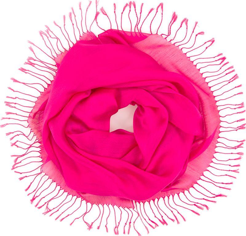 Платок женский Charmante, цвет: фуксия. TIVIO357. Размер 170 см х 70 смTIVIO357Однотонный палантин из вискозы с атласным блеском, оформленный по бокам кистями. Благодаря размеру палантин прекрасно драпируется и украсит любой образ.