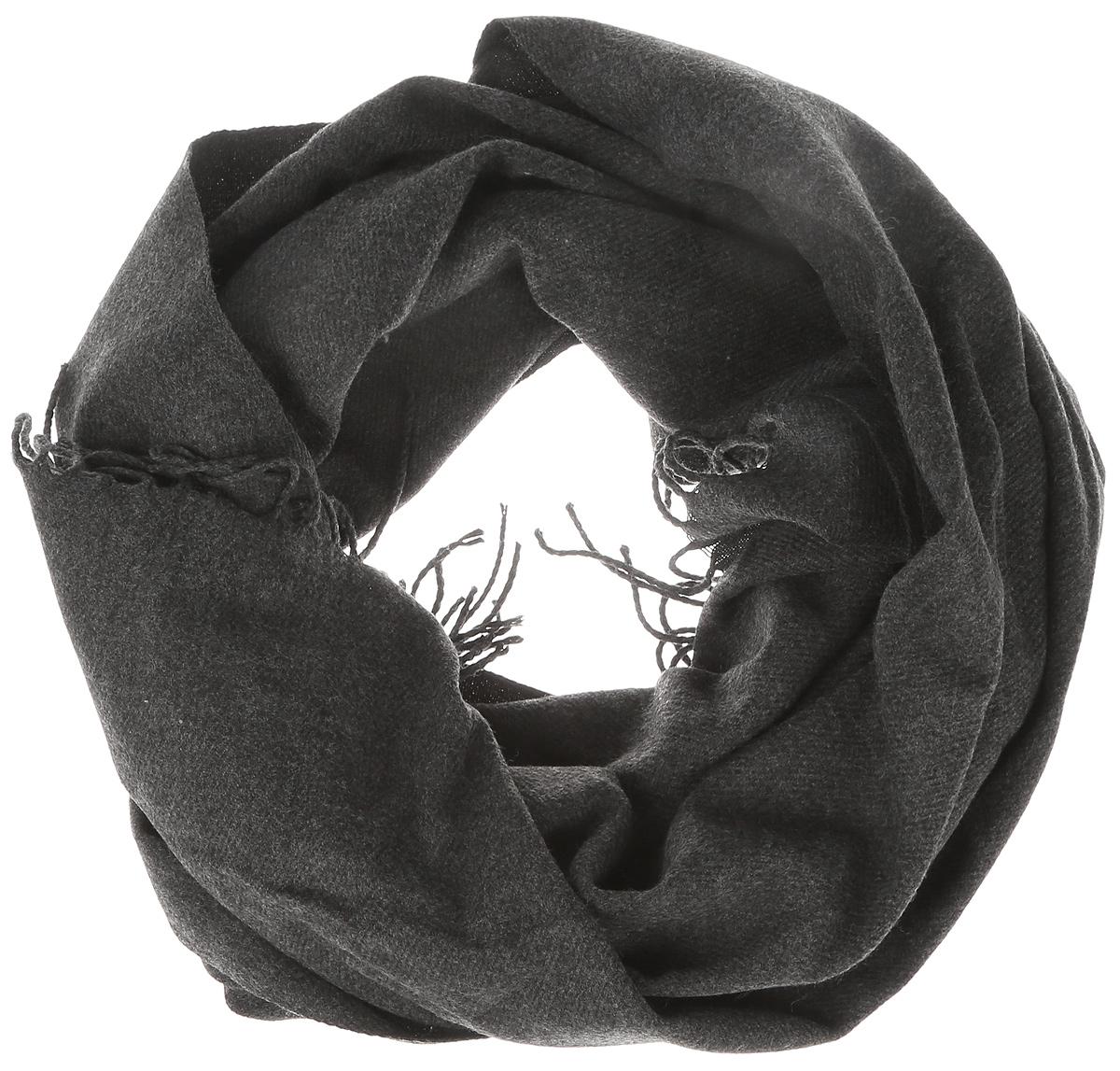 Палантин женский Vero Moda, цвет: темно-серый. 10137899. Размер универсальный10137899_Dark Grey MelangeМодный женский палантин Vero Moda изготовлен из 100% акрила. По краям модель оформлена кистями.