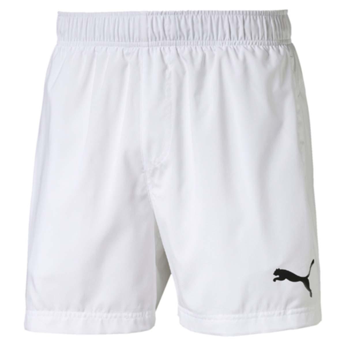 Шорты мужские Puma Ess Woven Shorts 5, цвет: белый. 838271_02. Размер M (48/50)838271_02Шорты ESS Woven Shorts 5 - отличное сочетание функциональности и комфорта. Эластичная ткань выдерживает серьезные нагрузки, не теряя своих свойств. Модель скроена таким образом, чтобы шорты не вызывали ощущения дискомфорта даже при активных движениях. Среди других особенностей изделия - эластичный пояс с продернутыми в нем затягивающимися шнурами, боковые карманы, а также нашитая сверху задняя кокетка для лучшей посадки по фигуре. Шорты декорированы логотипом PUMA, нанесенным методом глянцевой печати.