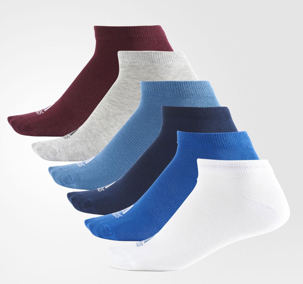 Комплект носков Adidas, цвет: мультиколор. S99896. Размер 39/42S99896Носки от Adidas из мягкого тонкого материала для тренировки в теплую погоду. Идеальная посадка и поддержка свода стопы.