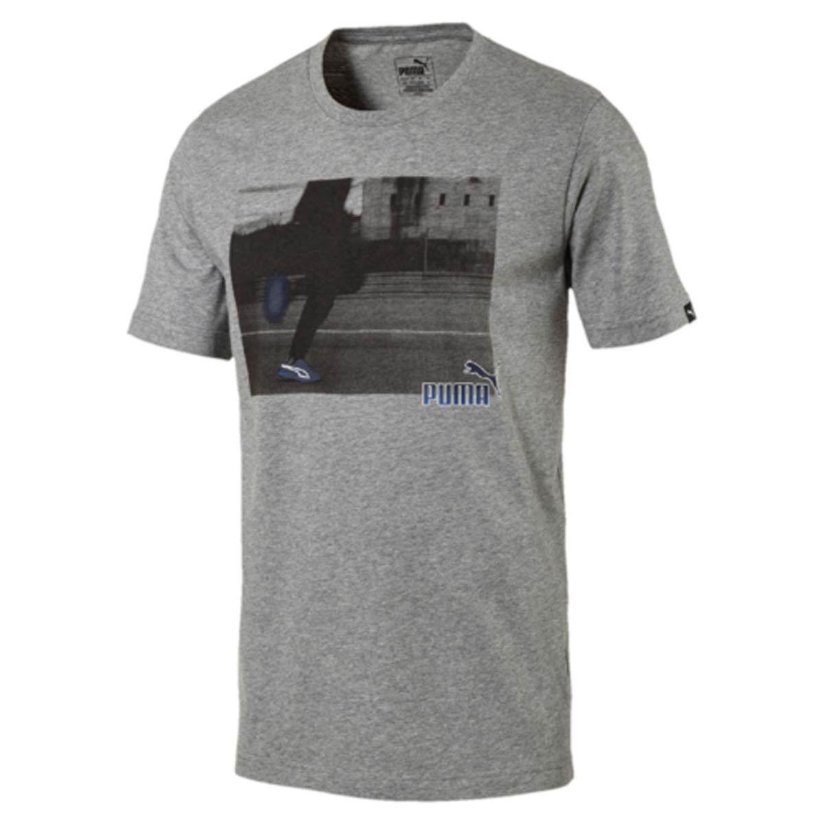 Футболка мужская Puma Explosive Photoprint Tee, цвет: серый. 590936_03. Размер XXL (52/54)