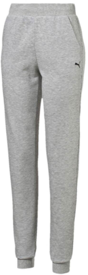 Брюки спортивные женские Puma ESS Sweat Pant TR W, цвет: серый. 83842804. Размер S (42/44)83842804Женские спортивные брюки ESS Sweat Pant TR W полуприлегающего фасона выполнены из хлопка с добавлением полиэстера. Мягкая дышащая ткань обеспечивает естественную терморегуляцию. Мягкий широкий пояс на резинке с внутренней утяжкой не сдавливает и не создает дискомфорт. Манжеты по низу штанин отделаны трикотажем в резинку. Брюки декорированы вышитым логотипом PUMA. Такая модель - универсальный спортивный вариант для занятий как на свежем воздухе, так и в спортзале.