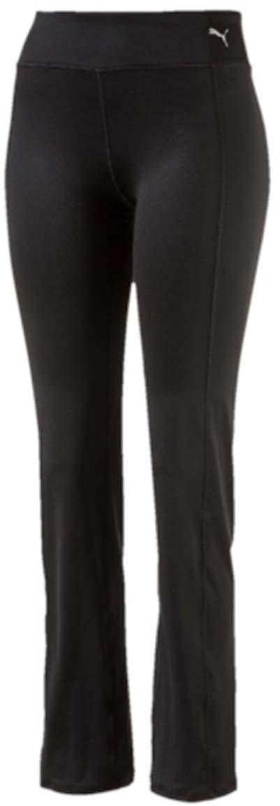 Брюки спортивные женские Puma Essential Straight Leg, цвет: черный. 51514501. Размер S (42/44)51514501Женские спортивные брюки Essential Straight Leg выполнены из полиэстера с добавлением эластана и с влагоотводящей пропиткой на основе биотехнологий. Модель имеет эластичный пояс, благодаря чему хорошо садится на талию. Внизу штанины расклешенные. Брюки на поясе декорированы логотипом PUMA.