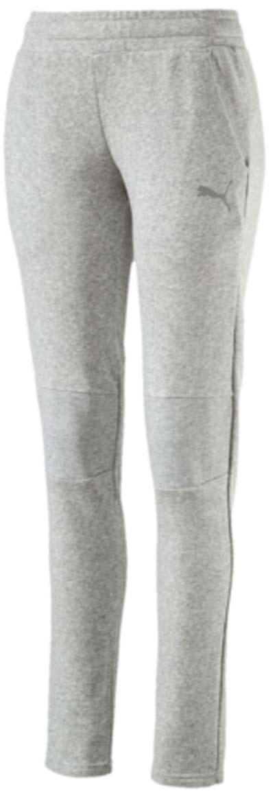 Брюки спортивные женские Puma Swagger Pants W, цвет: серый. 590750_04. Размер XS (40/42)590750_04Женские спортивные брюки Swagger Pants W выполнены из хлопка с добавлением полиэстера. Модель имеет пояс с внутренней утяжкой, благодаря чему хорошо садится на талию. Для удобства предусмотрены боковые карманы с сетчатой подкладкой. На коленях также имеется сетчатая вставка. Брюки декорированы логотипом PUMA из светоотражающего материала, нанесенным методом термопечати. Изделие имеет стандартную посадку.