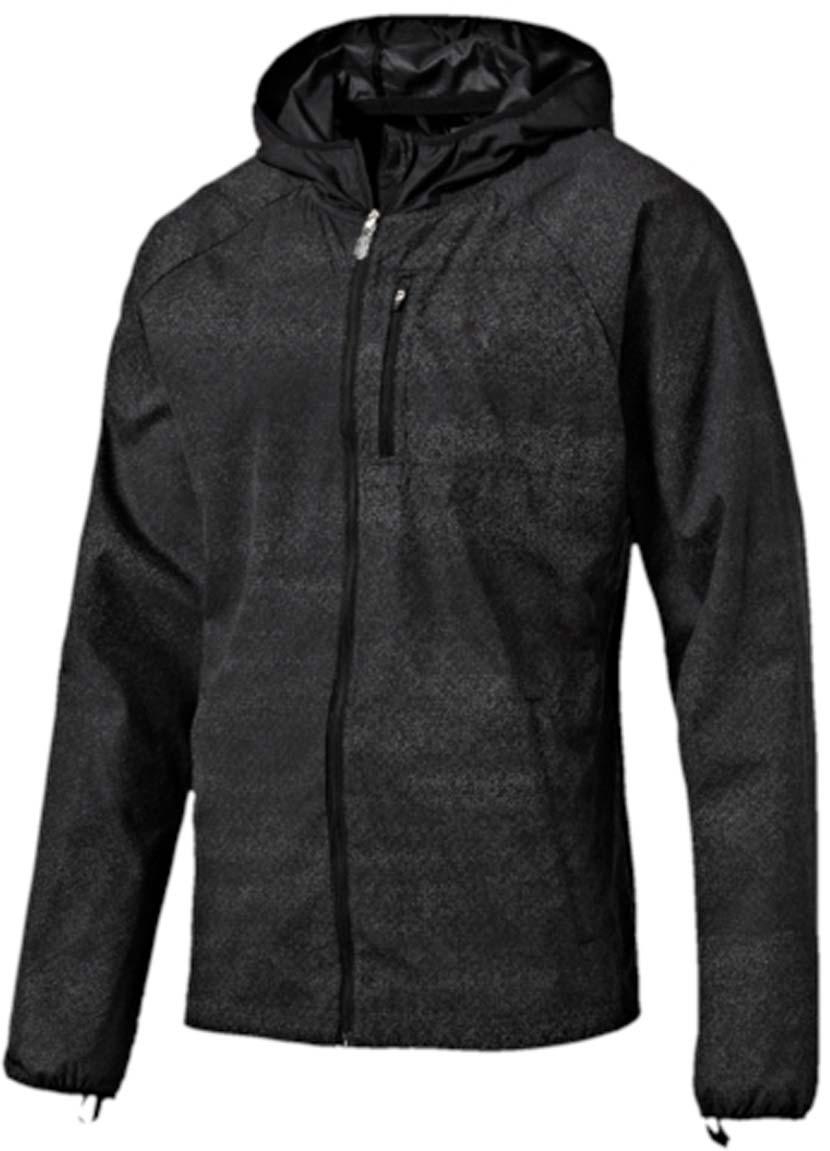 Ветровка для бега мужская Puma NightCat Jacket, цвет: серый. 51496201. Размер M (48/50)51496201Ветровка мужская NightCat Jacket изготовлена с использованием высокофункциональной технологии windCELL, обеспечивающей надежную защиту от ветра и поддерживающей естественную терморегуляцию даже во время интенсивных нагрузок. Вентиляционные прорези на спине препятствуют перегреву. Два кармана с боков и карман на молнии на груди станут надежным местом хранения ваших вещей. Ветровка декорирована спереди и сзади логотипом и другими элементами из переливающегося светоотражающего материала, включая язычки застежек-молний, благодаря чему вас хорошо видно с любого ракурса в темное время суток. Кроме того, на переднюю часть, на рукава и на верхнюю часть спины нанесен рисунок, который благодаря использованию новейших материалов не виден днем, но начинает светиться только в темноте. Отверстия для больших пальцев в удлиненных манжетах, надежно защищающих от холода кисти рук, обработаны мягким материалом.