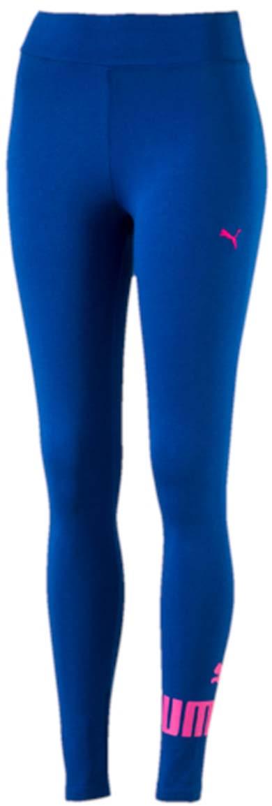 Леггинсы женские Puma ESS No.1 Leggings W, цвет: синий, розовый. 838422_10. Размер M (44/46)838422_10Леггинсы ESS No.1 Leggings W выполнены из хлопка с добавлением эластана. Благодаря приятной на ощупь ткани, тренироваться в них будет очень комфортно. Модель имеет фасон в обтяжку по фигуре. Пояс выполнен из основного материала изделия. Леггинсы декорированы прорезиненным логотипом PUMA, а также вышитой фирменной символикой PUMA.
