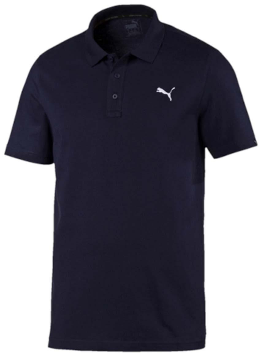 Поло мужское Puma ESS Jersey Polo, цвет: темно-синий. 83824706. Размер L (50/52)83824706Стильная мужская рубашка-поло ESS Jersey Polo выполнена из 100% хлопка с финальной влагоотводящей обработкой на биологической основе. Модель декорирована логотипом PUMA. Среди других отличительных особенностей изделия - отложной воротник из эластичного трикотажа в рубчик и отделка тесьмой с фирменной символикой с внутренней стороны ворота. Классический крой понравится ценителям простого и лаконичного стиля, а воротник добавит элегантности модели. Отличный вариант для повседневного образа.