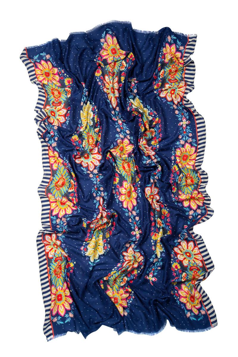 Палантин Laccom, цвет: синий. 3232G. Размер 187 см x 120 см3232GПалантин Laccom выполнен из высококачественного материала и оформлен стильным принтом. Изделие приятно на ощупь и подойдет к любому стилю.