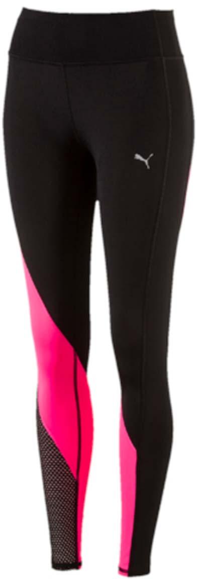 Тайтсы женские Puma Explosive Tight, цвет: черный, розовый. 51511603. Размер M (44/46)51511603Элегантные спортивные тайтсы Explosive Tight станут вашей любимой моделью для занятий спортом и фитнесом! Оригинальное сочетание цветов привлекает внимание, а удобный карман прямо в поясе позаботиться о сохранности вашего смартфона и других ценных вещей. Дополнительные удобства создает использование высокофункциональной технологии dryCELL, которая отводит влагу, поддерживает тело сухим и гарантирует комфорт во время активных тренировок и занятий спортом. Плотный трикотаж, используемый в качестве основного материала изделия, прекрасно впитывает влагу и как нельзя лучше соответствует смелому и современному покрою. Он дополнен вставками из сетчатого и эластичного материала, обеспечивающими отличную вентиляцию. Широкий пояс с подкладкой из сетчатого материала удобно охватывает талию.