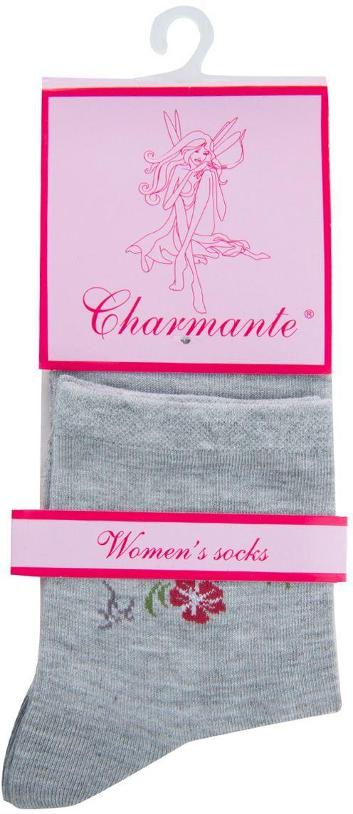 Носки женские Charmante, цвет: серый меланж. SCHK-1602. Размер 23 (35/37)SCHK-1602Женские носки Charmante с укороченным паголенком изготовлены из высококачественного материалаобеспечивающего великолепную посадку. Носки отличаются элегантным внешним видом. Удобная широкая резинка идеально облегает ногу и не пережимает сосуды, усиленные пятка и мысок повышают износоустойчивость носка.