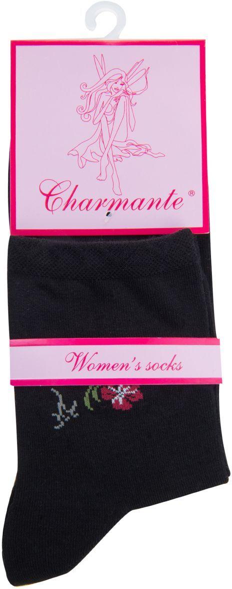 Носки женские Charmante, цвет: черный. SCHK-1602. Размер 23 (35/37)SCHK-1602Женские носки Charmante с укороченным паголенком изготовлены из высококачественного материалаобеспечивающего великолепную посадку. Носки отличаются элегантным внешним видом. Удобная широкая резинка идеально облегает ногу и не пережимает сосуды, усиленные пятка и мысок повышают износоустойчивость носка.